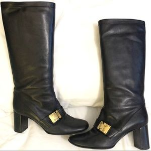 Rare Louis Vuitton S-Lock Leather Riding Boots